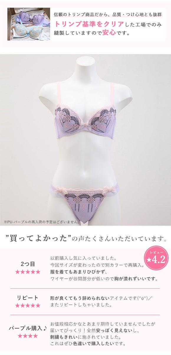 Shirohato X Triumph Lace Demi Bra and panty Set (3/4 Cups, Sizes B-F)