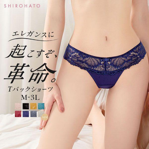 13%OFF【メール便(3)】 (モードマリー)Mode Marie×SHIROHATO 超脇肉革命 Tバック ショーツ レース M L LL 3L タンガ ソング 単品