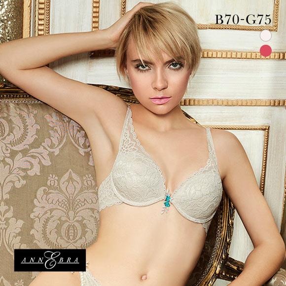 诗萝涵朵文胸B-G码ANNEBRA Casablanca系列IloveChange蕾丝大码文胸