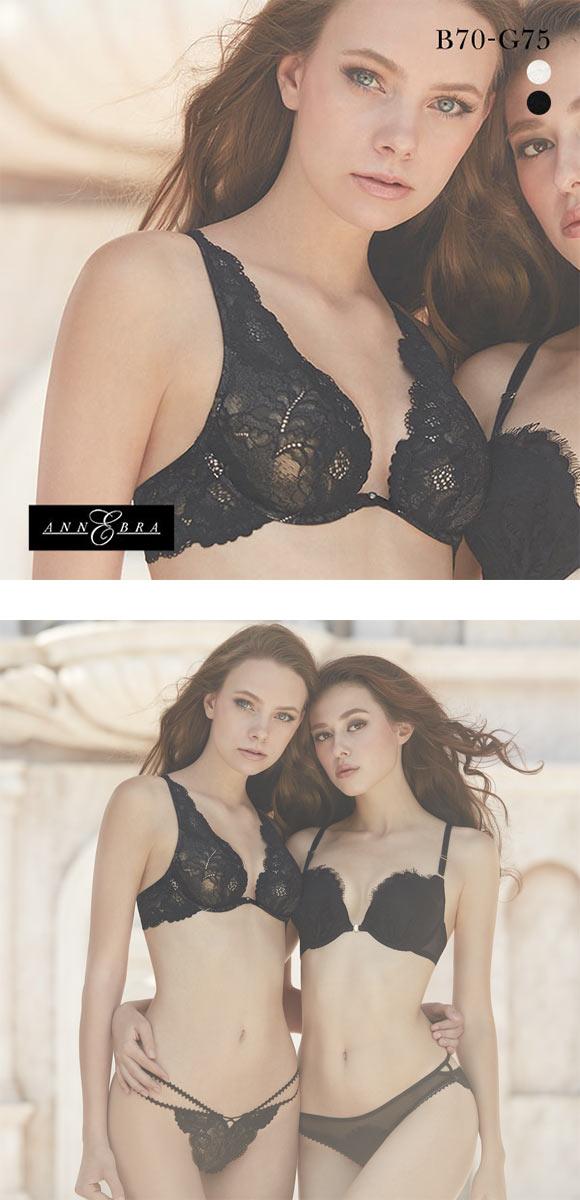 文胸B-G码ANNEBRA Venice全蕾丝华丽优雅无胸垫全罩杯文胸