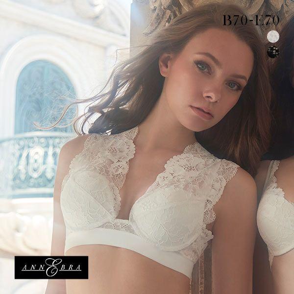 Annebra Venice Bloom Up Cross Back Lace Bra (B-E)