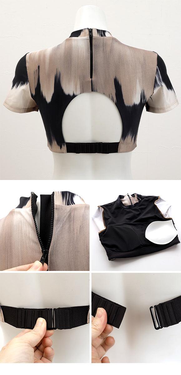诗萝涵朵运动上衣ML码ANNEBRA Earth系列半袖短款有罩杯训练运动上衣