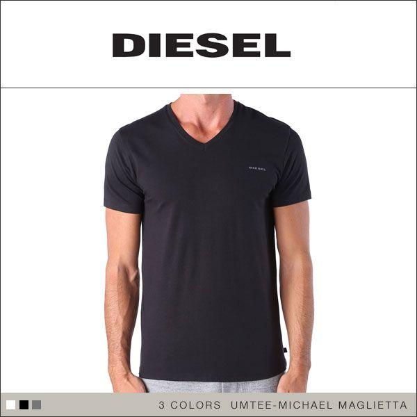 (ディーゼル)DIESEL MENS UMTEE-MICHAEL MAGLIETTA コットンストレッチVネックTシャツ
