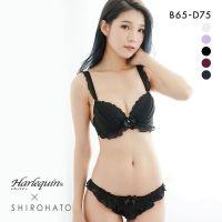 诗萝涵朵文胸套装BCD码SHIROHATO可爱雪纺3/4罩杯舒适聚拢