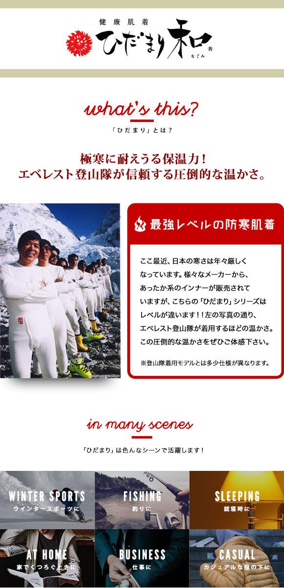 Hidamari Wa Lady's Warm Innershirt (Made in Japan, Sizes M-LL)